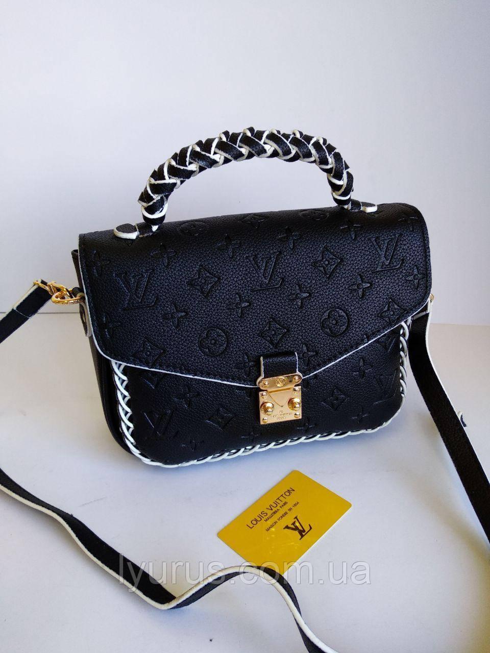 Женская сумка Louis Vuitton Metis черного цвета с декором