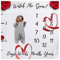 Детские пеленки фото фоны по месяцам Watch me grow