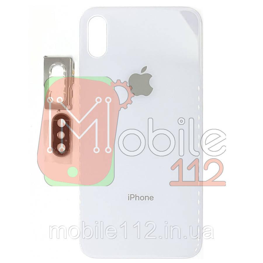 Задняя крышка iPhone XS белая оригинал Китай стекло камеры в комплекте