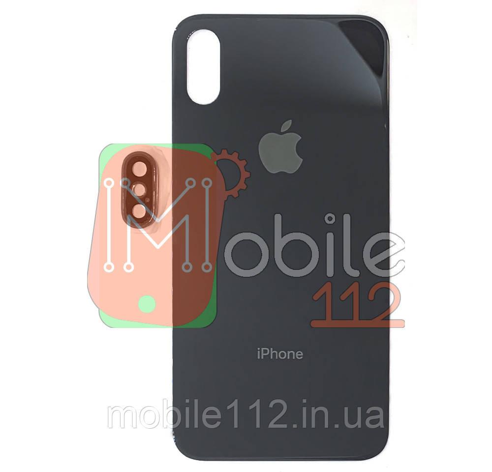 Задняя крышка iPhone X черная оригинал Китай стекло камеры в комплекте