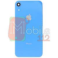 Задняя крышка Apple iPhone XR голубой оригинал Китай со стеклом камеры