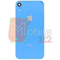 Задняя крышка iPhone XR голубой оригинал Китай со стеклом камеры