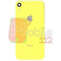 Задняя крышка iPhone XR желтый оригинал Китай со стеклом камеры