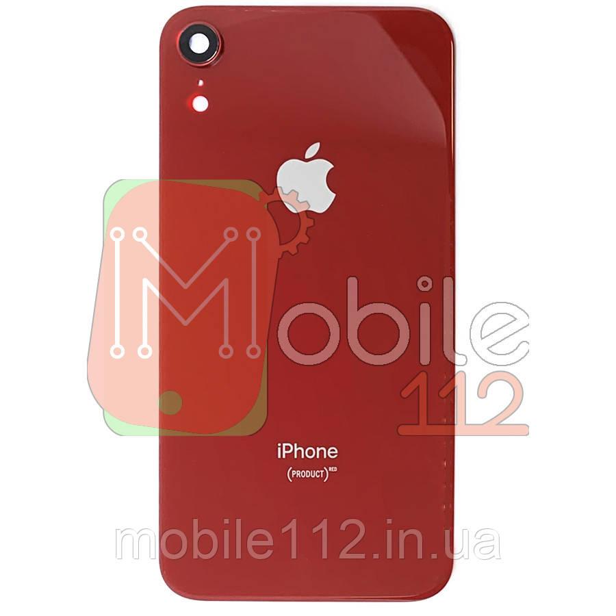 Задняя крышка iPhone XR красный оригинал Китай со стеклом камеры