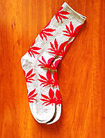 Шкарпетки HUF Plantlife Crew Socks Grey/Red