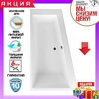 Асимметричная акриловая ванна 160x95 см Excellent M-Sfera WAEX.MSL16WH-BN левосторонняя