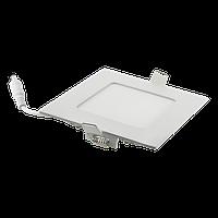 Светодиодный светильник встраиваемый 6W Серебро, квадрат, 4100K