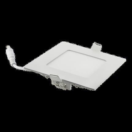 Светодиодный светильник встраиваемый 6W Серебро, квадрат, 4100K , фото 2