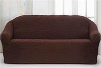 Темно-коричневая накидка-чехол на диван №3/18 170х230 см
