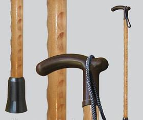 Трость для ходьбы (для инвалидов и пожилых) опорная Мирта Любава деревянная (6942)