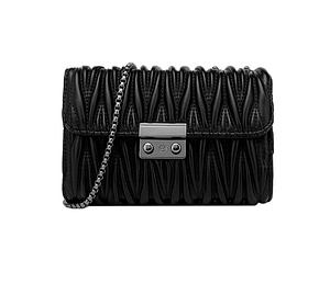 Женский клатч сумка на цепочке Olivia Черный