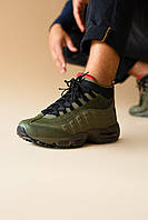Мужские Зимние Кроссовки Nike Air Max 95 Sneakerboot Olive Зеленые