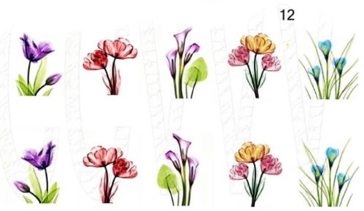 Водные наклейки (слайдер дизайн) для ногтей 12