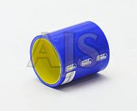 Патрубок силиконовый прямой усиленный 57мм длина 10см 4-х слойный Premium