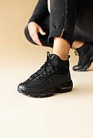 Мужские Зимние Кроссовки Nike Air Max 95 Sneakerboot Черные