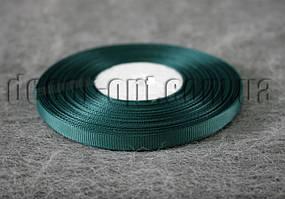 Лента репсовая темно-зеленая 0,6 см 25 ярд  49