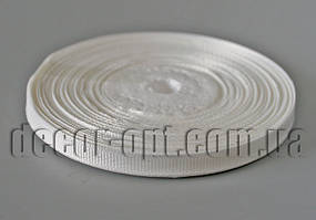 Лента репсовая оттенок молочного  0,6 см 25 ярд арт.42