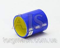 Патрубок силиконовый прямой усиленный 63 мм длина 10см 4-х слойный Premium