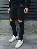 Джинсы Staff black fire