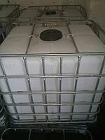 Еврокуб 1000 л на поддоне в металлической обрешетке бу