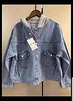 """Куртка джинсовая женская на пуговицах с капюшоном, размеры M-XL """"MONRO"""" недорого от прямого поставщика"""