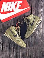 Мужские Зимние Кроссовки Nike Lunar Force 1 Duckboot 17 Olive Зеленые