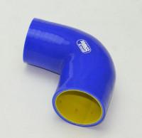 Патрубок силиконовый 90 градусов 57 мм усиленный 4-х слойный Premium