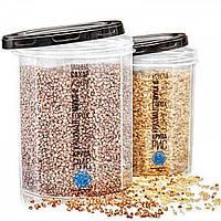 Емкость (контейнер) пищевой для сыпучих продуктов (круп) с резьбой 1.5л Stenson (NP-84б)