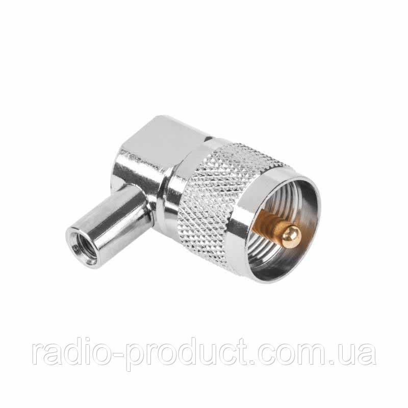 Штекер UHF-(CB) RG59/58 угловой, PL-259 male