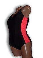Купальник женский спортивный для бассейна. Большой размер. Черный. Polovi. 1519C