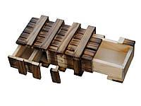 Деревянная коробка головоломка с потайными ящиками Vintage 15,5 см х7,4 см х4 см 15,5 см х7,4 см х4 см