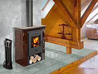 Стальная отопительная печь – каминофен в керамике BROTO, ROMOTOP, фото 1