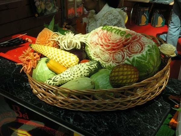 Карвинг овощей и фруктов