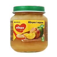 Пюре детское фруктовое яблоко персик 6м+ 125г Milupa Nutricia 142112