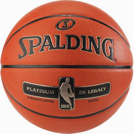 М'яч баскетбольний Spalding NBA Platinum ZK Legacy Size 7, фото 2
