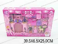 Замок с куклами, мебелью и аксесс., батар., звук, свет,