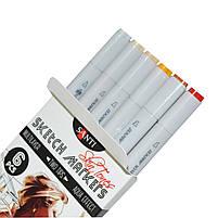 Набор маркеров для скетчей Santi sketch Skin Tones, 6 шт/уп. код: 390568, фото 3