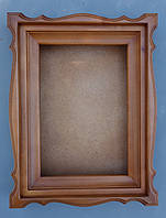 Киот из ольхи фигурный, с деревянным багетом., фото 1
