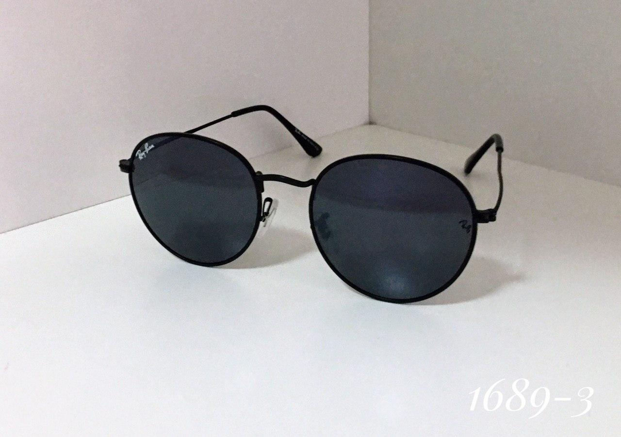 Женские круглые солнцезащитные очки  Ray Ban черные