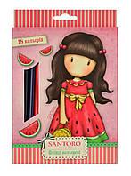 """Разноцветные карандаши """"Santoro Summer"""" 18 цветов, код: 290568"""