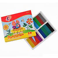 """Пластилин мягкий 16 цветов """"Кроха"""", код: 540462"""