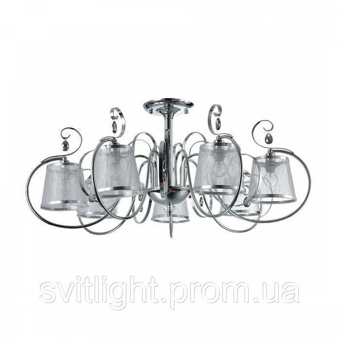 Люстра потолочная с абажурами FR2020-CL-07-CH Freya. Светильники серии Simone выполнены в классическом стиле