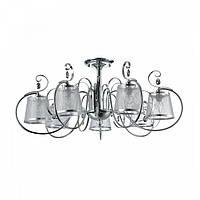 Люстра потолочная с абажурами FR2020-CL-07-CH Freya. Светильники серии Simone выполнены в классическом стиле, фото 1