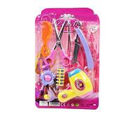 Игровой детский парикмахерский набор 60115 фен,ножницы,бигуди,заколки,пилочка,расческа…,на планшете 29*19см
