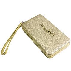 ✓Стильный женский кошелек Pidanlu N1330 Золотистый для денег визиток кредитных карточек удобный и не маркий
