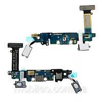 Плата нижня (плата зарядки) Samsung G920F Galaxy S6 з роз'ємом зарядки і компонентами