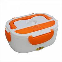 Электрический термо ланч-бокс Electric Lunch Box YY-3168 с подогревом Оранжевый (up343)