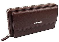 Мужской кожаный кошелек Wallerry XY5515 Коричневый