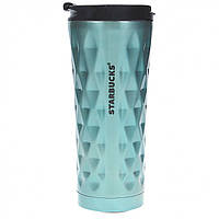 Термокружка Starbucks Diamond Style 500 мл Бирюзовый (101200Б), фото 1