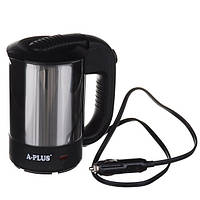 Электрочайник A-Plus 0.5 л от прикуривателя для автомобилистов Серый с черным (200132), фото 1